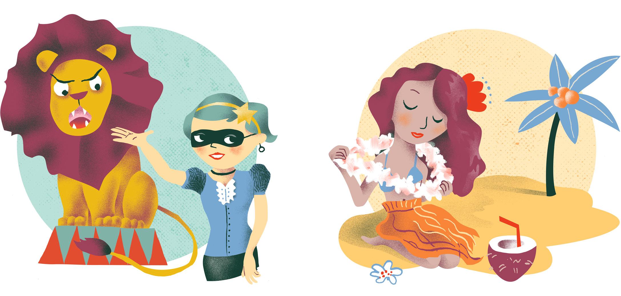 Annalisa Papagna illustration - Horoscope: Leo and Virgo