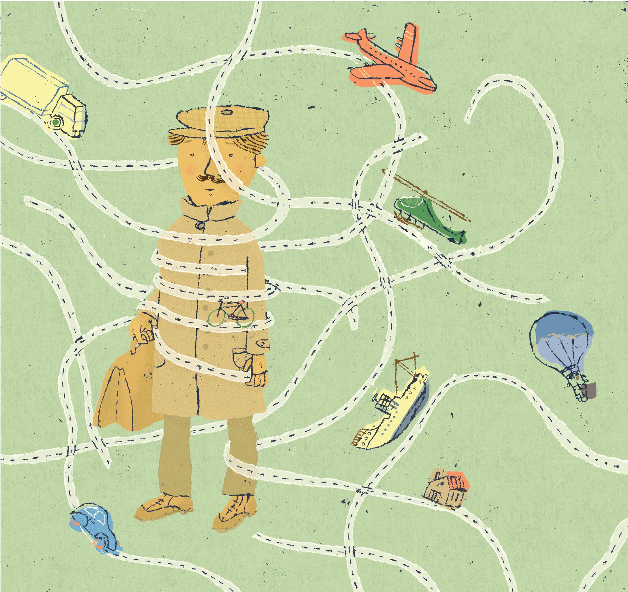 Annalisa Papagna illustration - Away on business