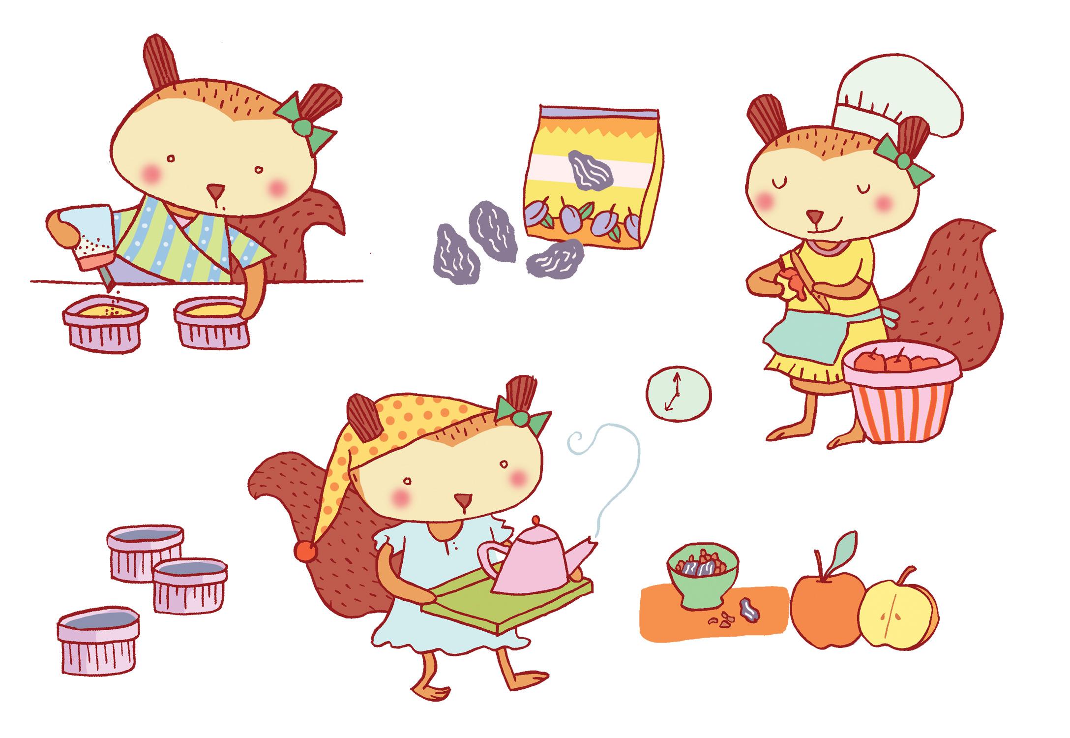 Annalisa Papagna illustration - Kids Dessert Cookbook