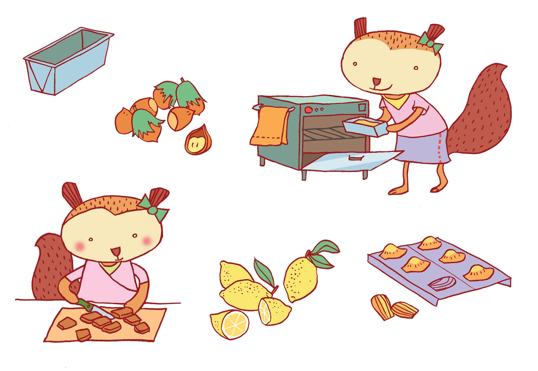 Annalisa Papagna illustration - Kids Dessert Cookbook 2