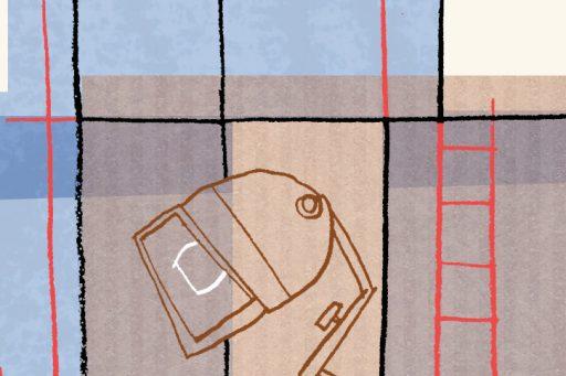 "Annalisa Papagna illustration - ""Eight and a half"" film anniversary (detail)"