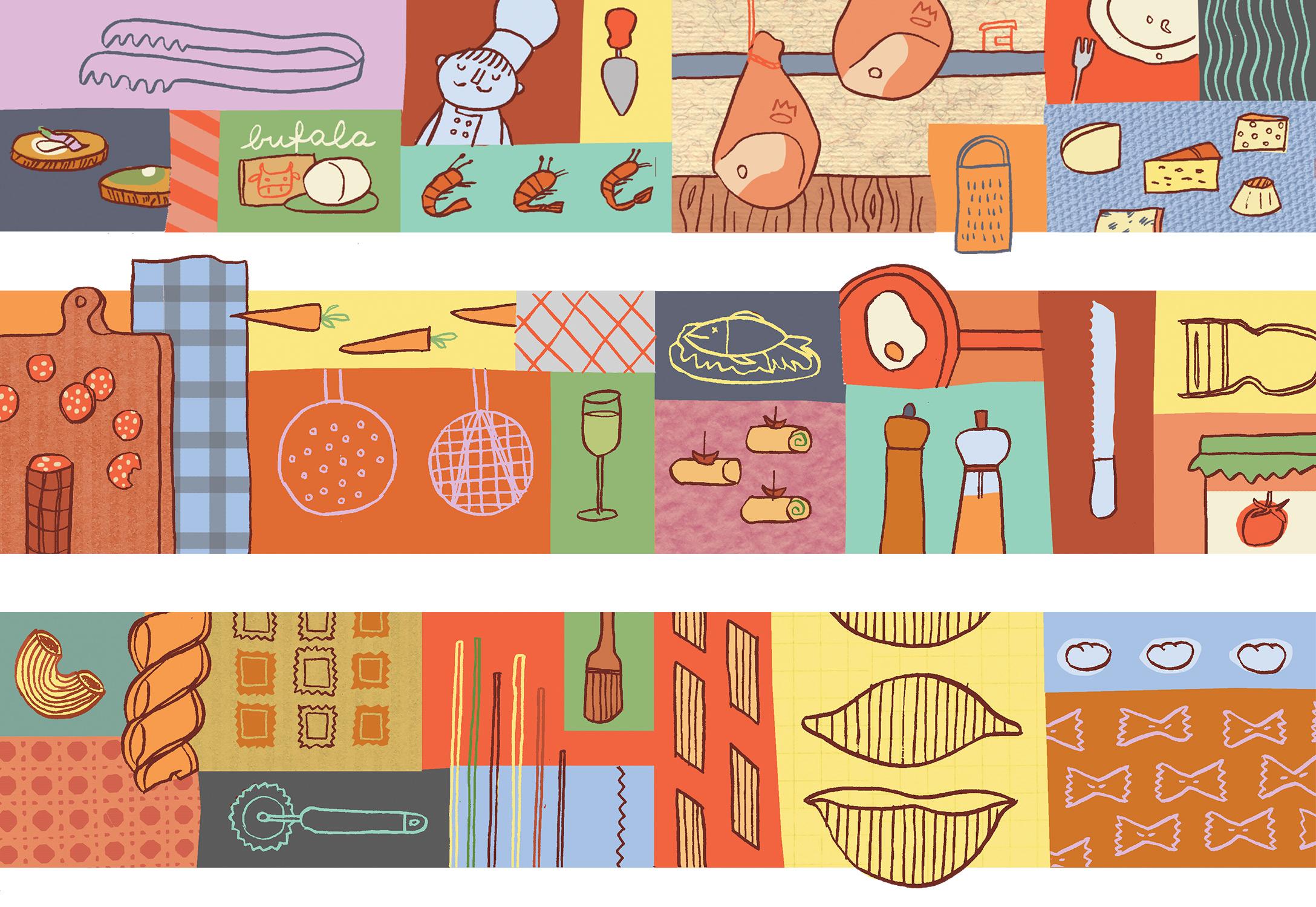 Annalisa Papagna illustration - Pastarito Menu