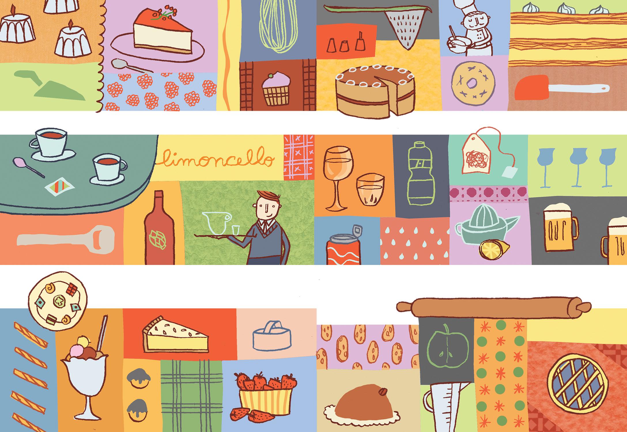 Annalisa Papagna illustration - Pastarito Menu 2