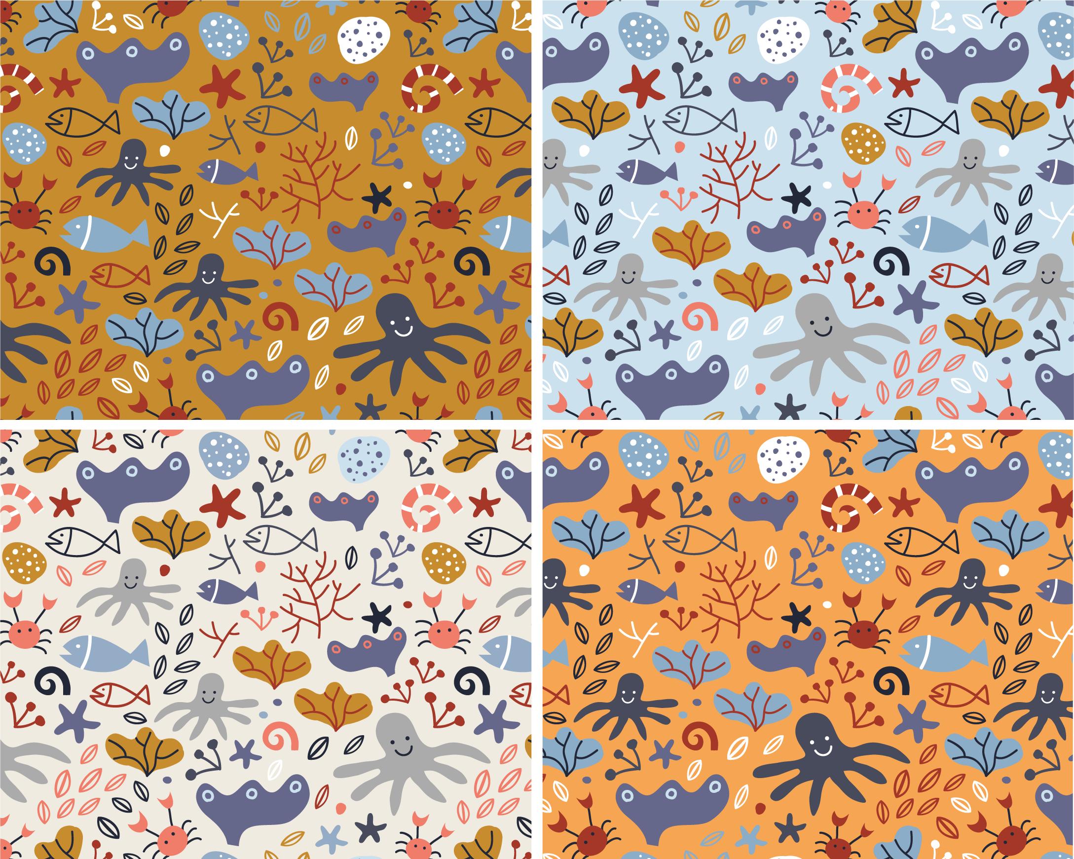 Annalisa Papagna illustration - Sea Life pattern