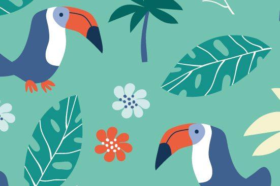 Annalisa Papagna illustration - Tropical pattern (detail)