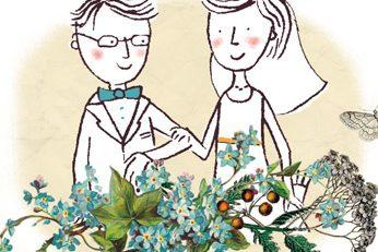 Annalisa Papagna illustration - Wedding Stationery (detail)