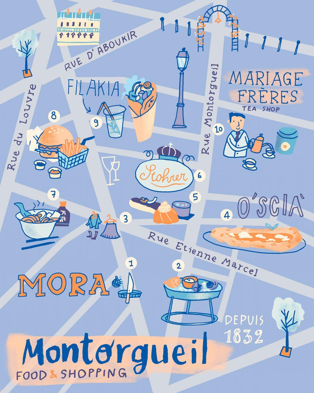 Annalisa Papagna illustration -Montorgueil district