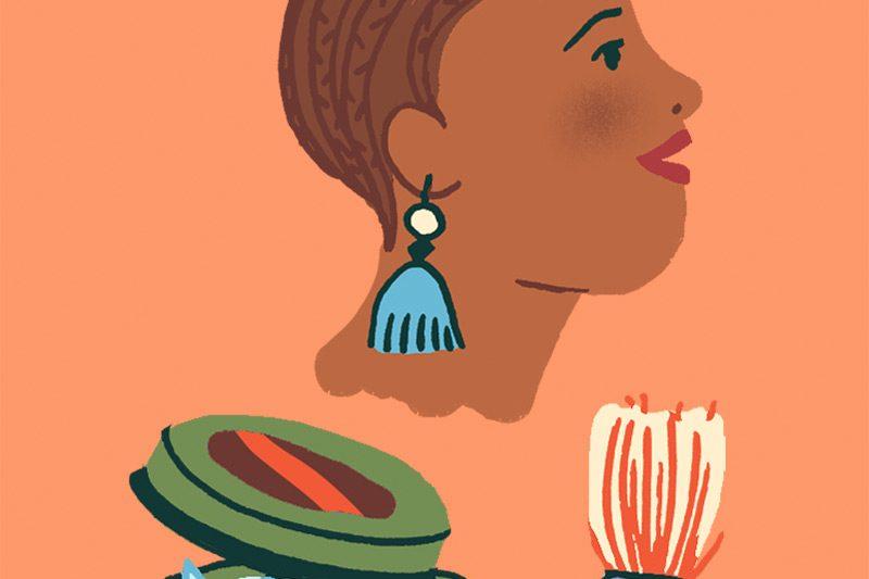 Annalisa Papagna illustration -Afro hairstyles (detail)