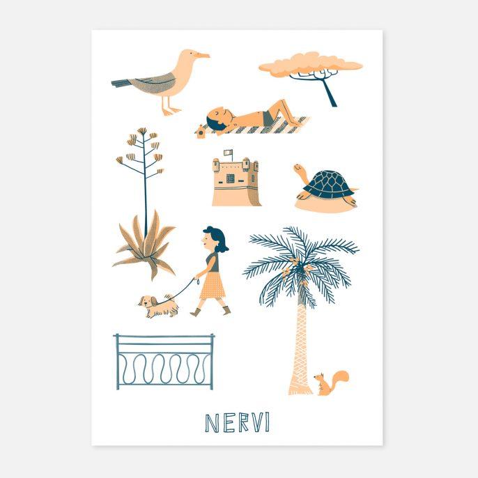 Annalisa Papagna shop - Nervi screen-print