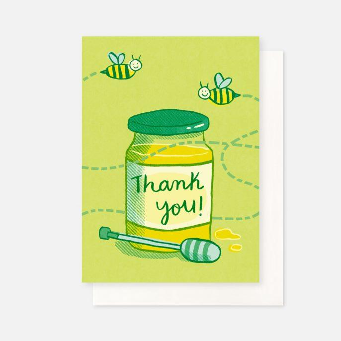 Annalisa Papagna shop - Bee thank you greeting card