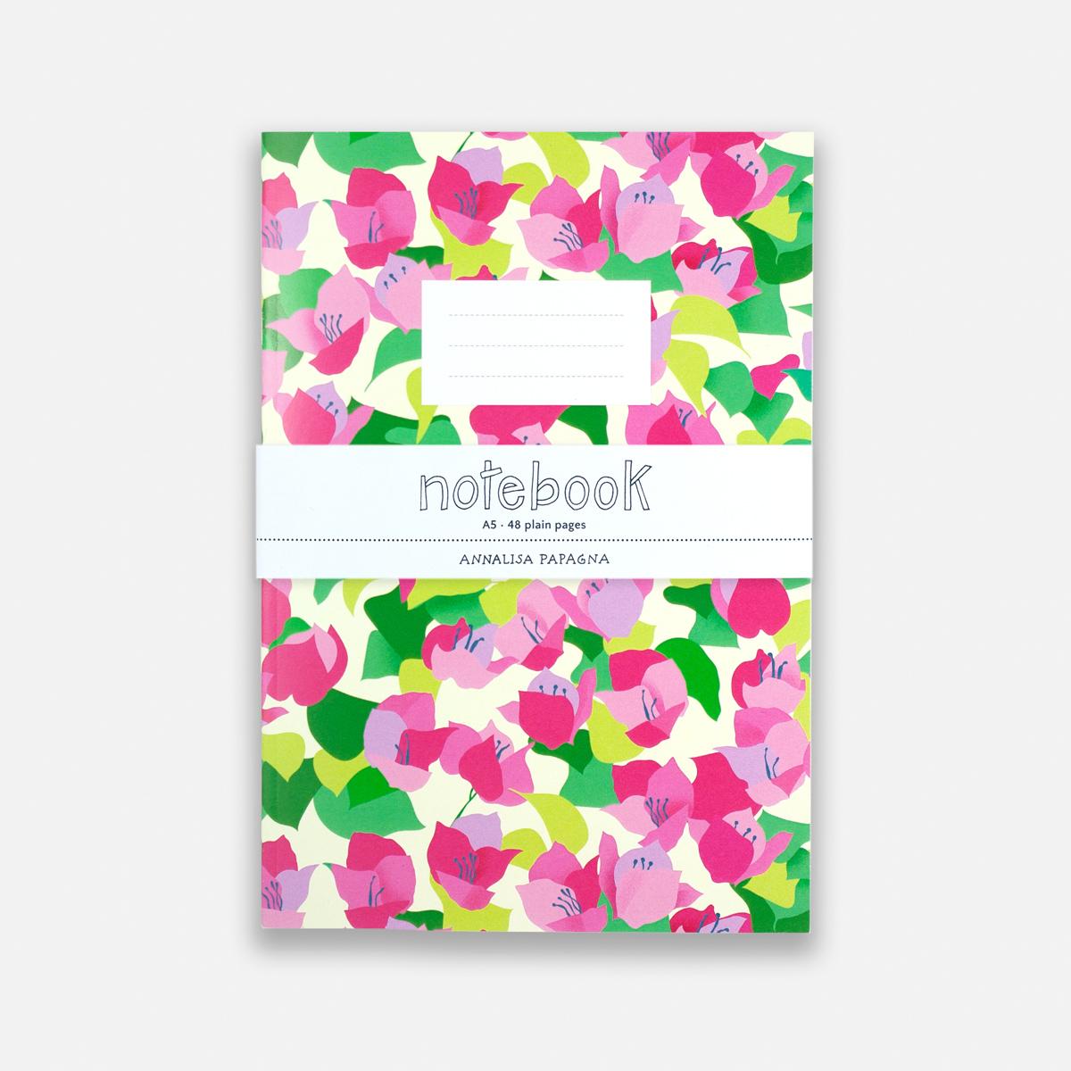 Annalisa Papagna shop - Bougainvillea notebook 2