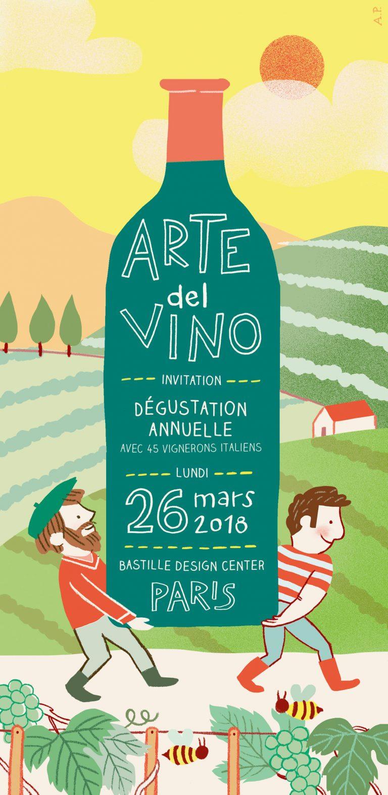 Annalisa Papagna illustration - Arte del vino lettering